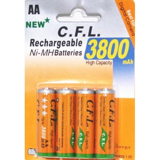 AA 3800 mAh Reachargeable / Oplaadbaar Batterij
