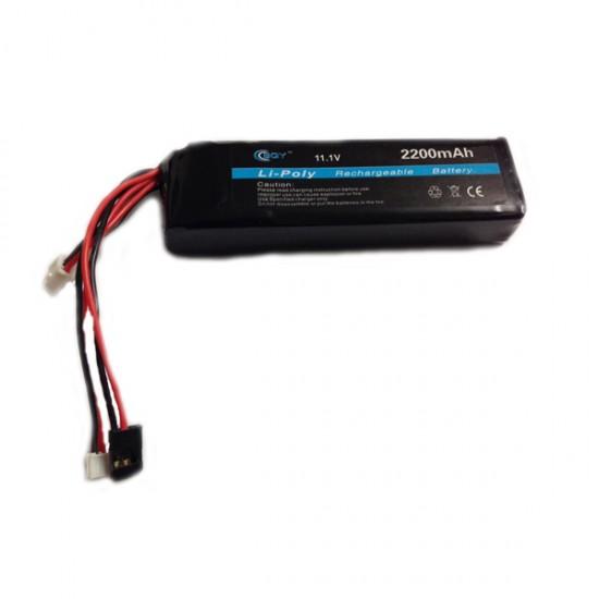 Accu 11,1V 2200mAh met 3 plugs