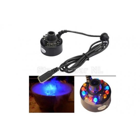 12-LED Ultrasonic Mist Maker Fogger Water Fountain Pond