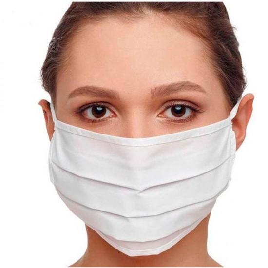 100% katoenen stof Wasbare mondmasker-Blauw