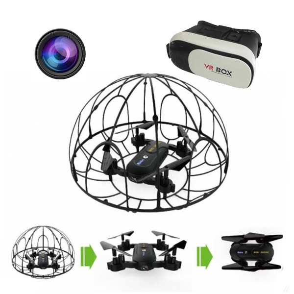 RayLine RX5VR opvouwbare Quadcopter met FPV Camera en VR Bril