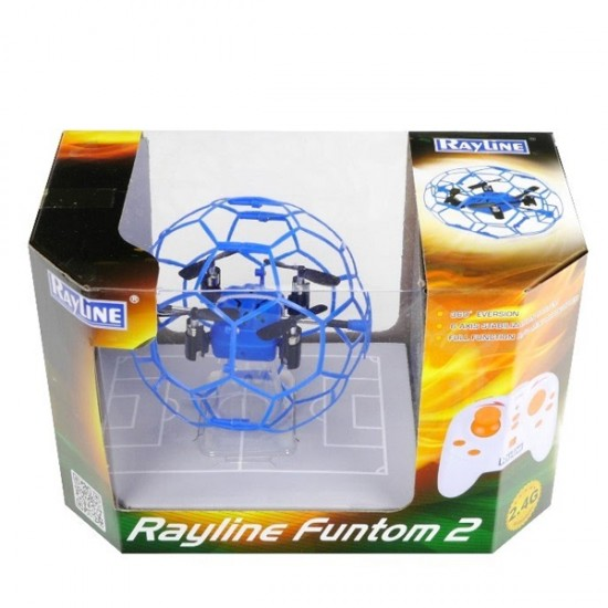 RyLine funtom 2 Drone Quadcopter in een flexibel kooitje
