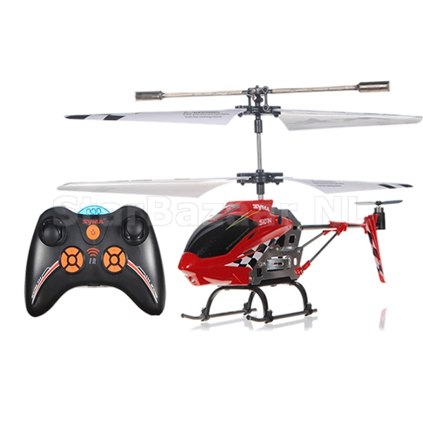Syma S107N 3CH Metal RC Helicopter met Gyro Rood