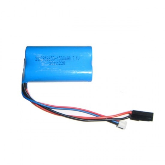 MJX F39 Battery 7.4V 1500mAh met Zwarte Plug
