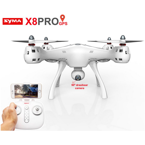 Syma X8PRO 2.4G RC Quadcopter met 720P WiFi HD Camera met GPS
